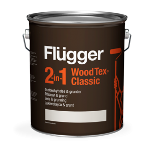 Flügger 2 in 1 Wood Tex Classic, Lakierobejca i grunt do drewna